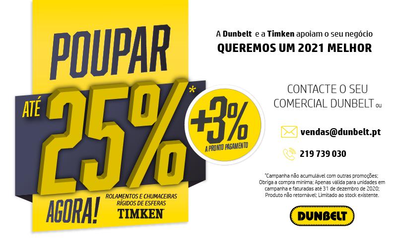 Poupe com a Dunbelt, até 25% em produtos TIMKEN
